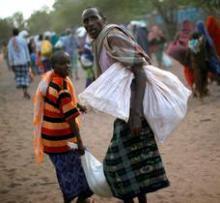 African refuge camp