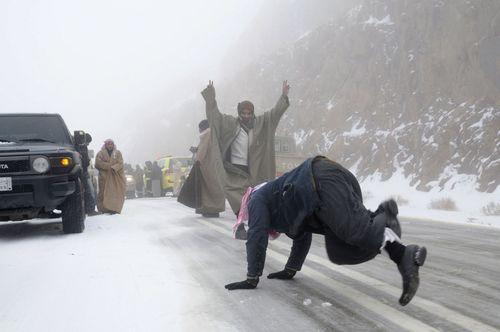 SnowInSaudiArabia.