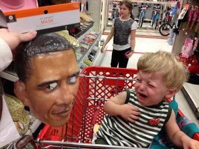 Obama scares kid