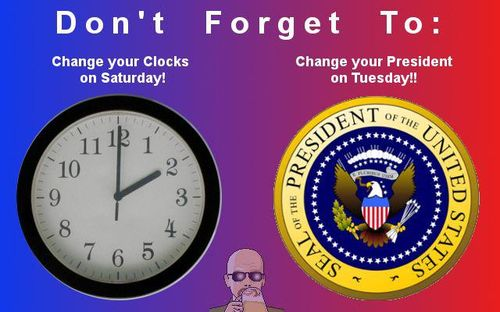 Change clocks and Prez