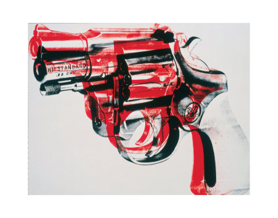 RED-warhol-andy-gun-c-1981-82-black-and-red-on-white