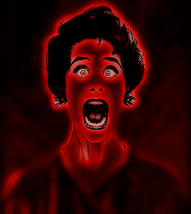 Red-Scared-screaming-woman